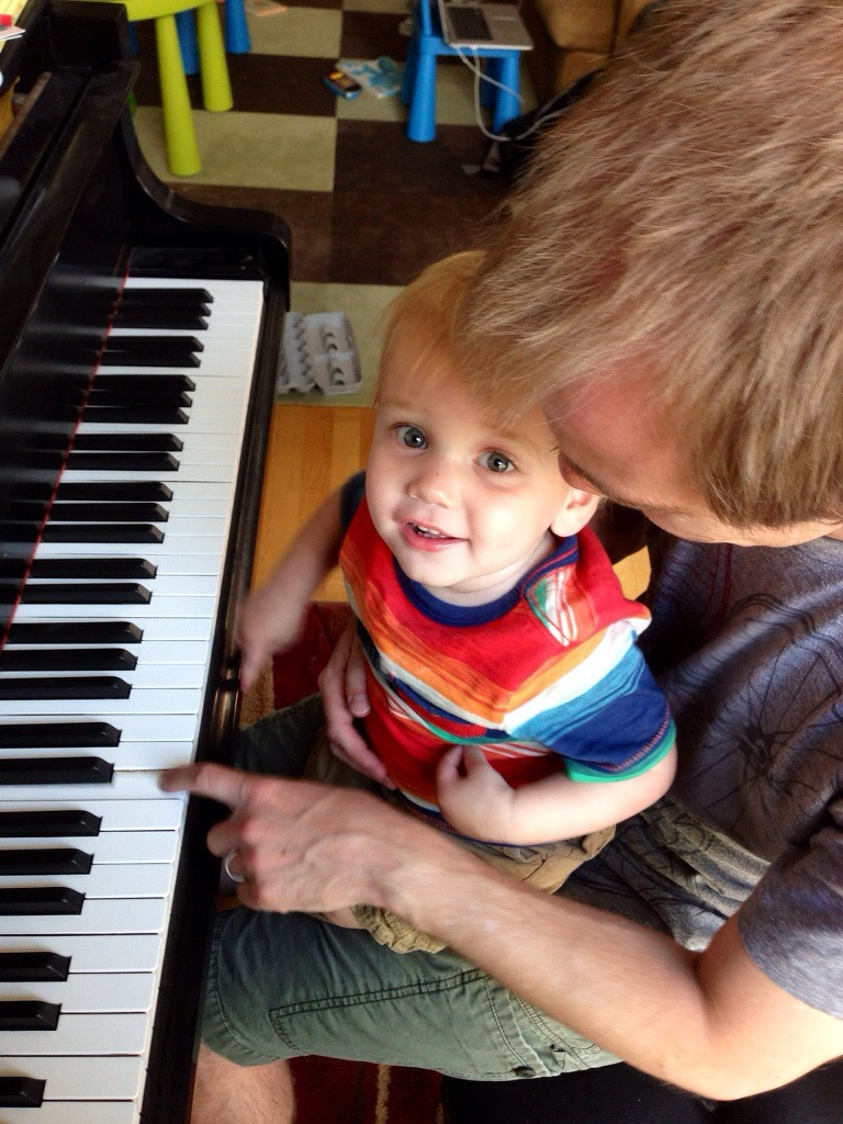 a Father's Day music lesson