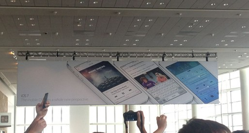 The new iOS 7 banners, which were covered during the keynote.