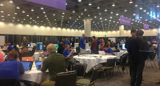 One of the many labs on the ground floor, where you could chat with Apple engineers about different topics.