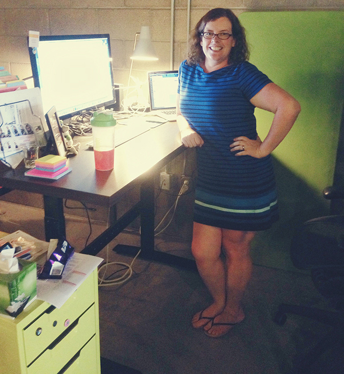 the amazingness of the standing desk