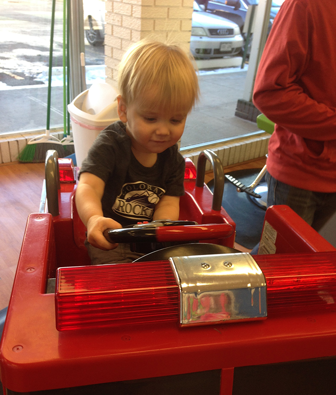 Wordless Wednesday: Fire Truck Haircut