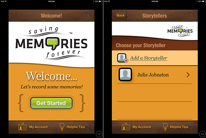 Saving Memories Forever app