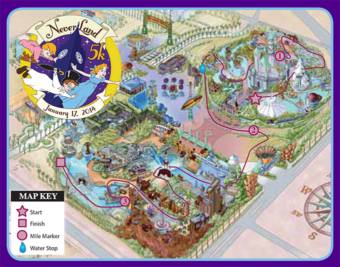 Never Land 5k Map