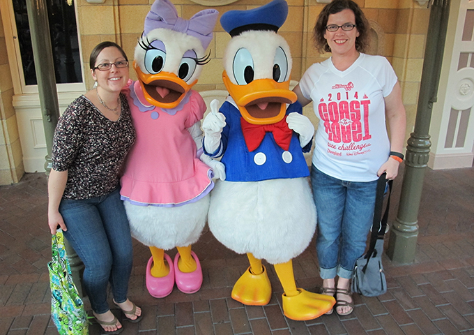 With Donald and Daisy