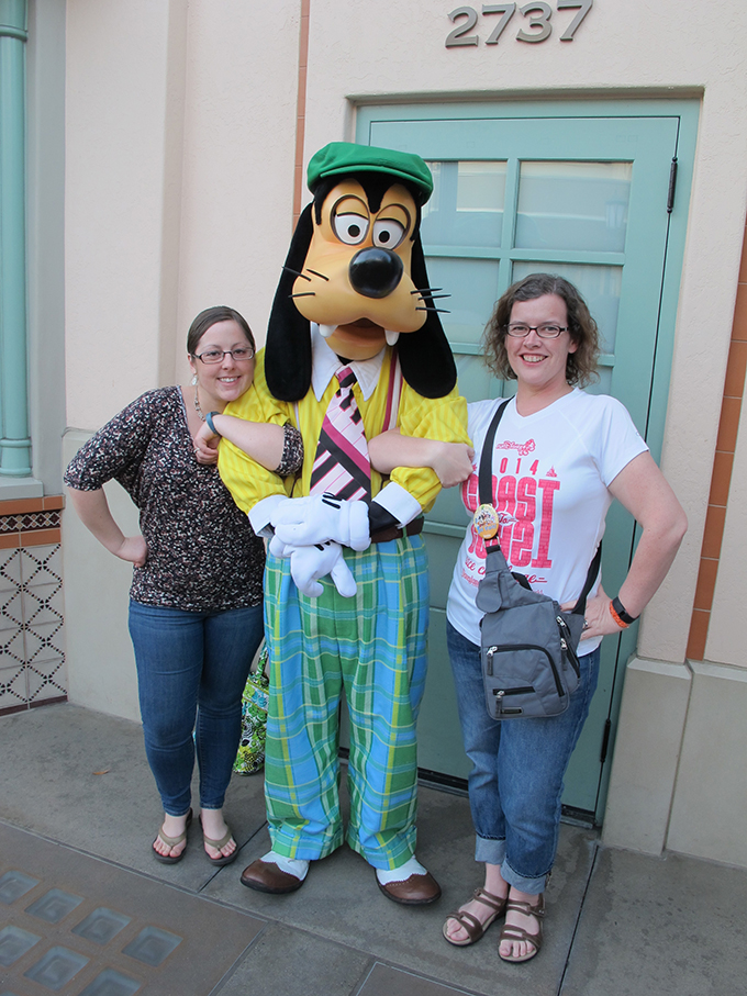 Beth, Julie and Goofy