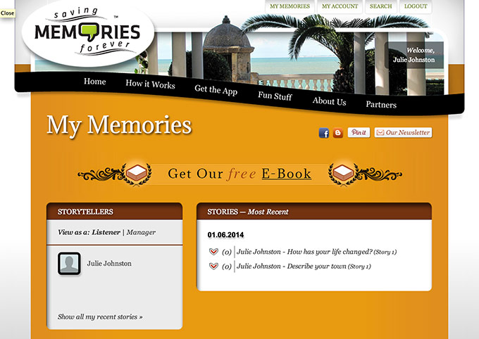 Saving Memories Forever website