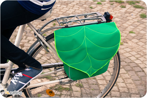 Green Leaf Bike Pannier